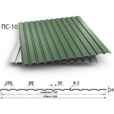Профнастил 10 мм; Толщина: 0,3 мм; Цветной